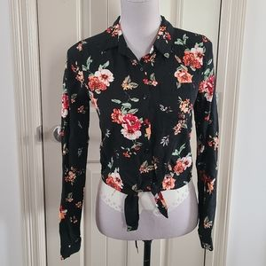Ardene Floral Button Down Blouse